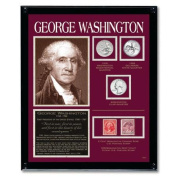 American Coin Treasures Washington Tribute Coin Wall Frame