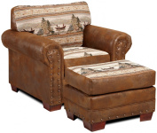 American Furniture Classics Alpine Lodge Ottoman