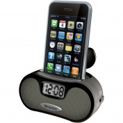 Westclox WMP3 Alarm Clock, Black