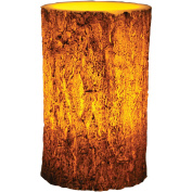 River's Edge Products LED Tree Bark Candle, 10.2cm x 15.2cm