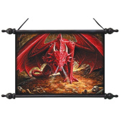 Design Toscano Dragons Lair Canvas Wall Scroll Tapestry