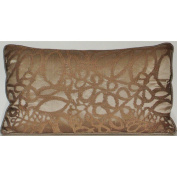 Edie Inc. Silk Embroidered Leaf Decorative Pillow