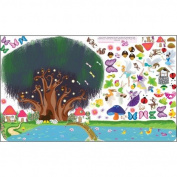 Mona Melisa Designs Peel and Play Fairy Garden Wall Play Set