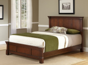Home Styles The Aspen Collection Queen Bed, Rustic Cherry/Black