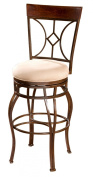 American Heritage 126901UMB Counter Stool Finished in Umber with a Basil Cushion