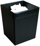 Dacasso A1003 Leather Square Waste Basket