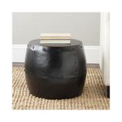 Safavieh Cerium Iron Drum Stool in Black