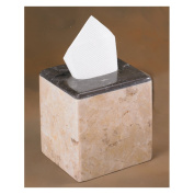 EVCO International 74627 Champagne Marble Inverary Banded Tissue Box Holder