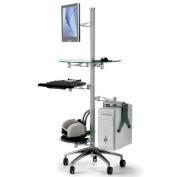Cotytech Adjustable Ergonomic Mobile Computer Workstation