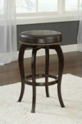 Hillsdale Furniture Wilmington Swivel Backless 64.5cm Counter Stool, Cappuccino Finish, Brown PU Seat