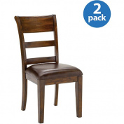 Hillsdale Furniture Park Avenue Dining Chairs, Set of 2, Dark Cherry Finish