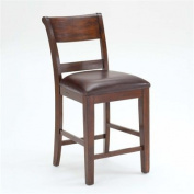 Hillsdale Furniture Park Avenue Non-Swivel Counter Stools, Set of 2, Dark Cherry Finish