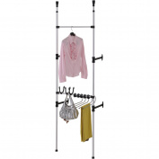 Ore International NS-1126-1 Modern Telescopic 3 tier clothes-jeans rack