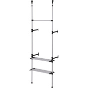 Ore International NS-1115-60 Simple Modern 2 Tier Telescopic Clothes Rack