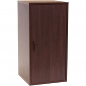 2-Section Double Storage Cube with Door, Dark Cherry