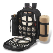 London Backpack with Picnic Blanket for 4