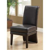 Monarch Specialties Inc. Swivel Leather Parson Chair