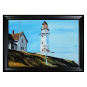Hopper - Light at Two Lights Canvas Wall Art - 41W x 29H in.