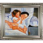 Cassatt - Breakfast in Bed Canvas Wall Art - 31W x 27H in.