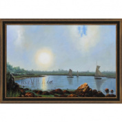 Heade - York Harbour, Coast of Maine Canvas Wall Art - 40W x 28H in.