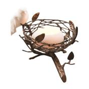Dekorasyon Gifts & Decor Single Nest with Fine Bone China Bird & Egg Tealight