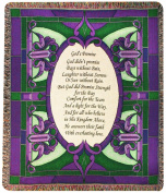 Manual Inspirational Collection Tapestry Throw, God's Promise Poem, 130cm X 150cm