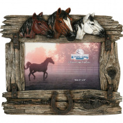 Rivers Edge Products 10.2cm x 15.2cm 3-Horse with Barbed Wire Picture Frame