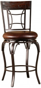 Hillsdale Furniture Granada 116.2cm Swivel Bar Stool, Dark Chestnut Finish Wood/Brown Finish Metal