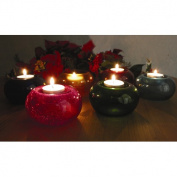 Amber Home Products Glass T-Lite Votive