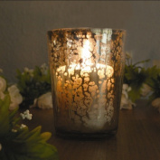 Amber Home Products Champagne Tumbler Candle Holder