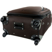 Travellers Club 61cm Expandable 4 Wheel Spinner Luggage, Mocha