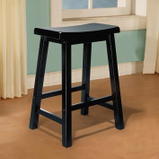 """L Powell """"Antique Black"""" with Sand Through Terra Cotta Counter Stool, 60cm Seat Height"""