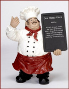 UMA Enterprises Urban Trends Polystone Chef Chalk Board Statue