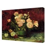 Art Wall Vincent Van Gogh ''Roses and Peonies'' Canvas Art