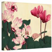 Art Wall Japanese Woodlock ''Pink Petunias'' Canvas Art