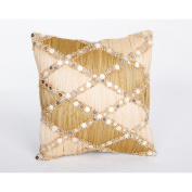 Debage Inc. Pleated Abaca Sea Side Pillow