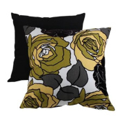 58.4cm Eco-Friendly Virgin Recycled Decorative Floral Throw Pillow - Yellow