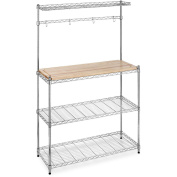 Whitmor Supreme Microwave Baker's Rack, Brown and Silver
