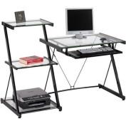 Z-Line Designs Studio Desk and Bookcase, Black