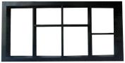 Pinnacle 3-Dimensional Boxed Display Case, Black