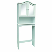 Home Source Industries Mirrored Bathroom Space Saver in White