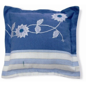 New Spec Inc Embroidery Flower Pillow in Blue