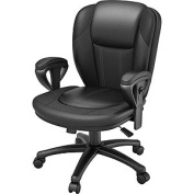 Z-Line Designs Black Leather and Fabric Manager Chair