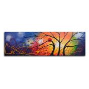 Ethereal Trees Dance Canvas Wall Art - 40W x 12H in.