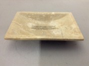 EVCO International 32358 Champagne Marble Column Soap Dish