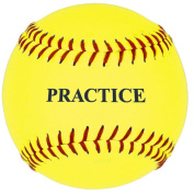 Yellow Slow or Fast-Pitch Practise Eleven-Inch Softballs-1 Dozen