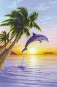 Hot Stuff 2584-24x36-AN Dolphin Sunrise Poster