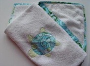 Little Fern OS06001T Turtle Twist Hooded Towel