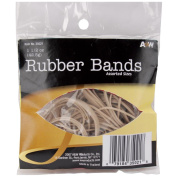 Rubber Bands 45ml-Assorted Sizes-Tan