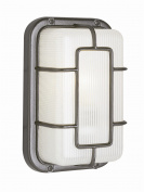 Trans Global Lighting 41101 SAL The Standard 1 Light Outdoor Bulkhead - Satin Aluminum